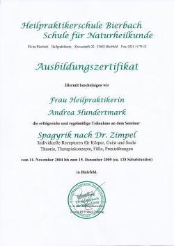 Spagyrik Zertifikat