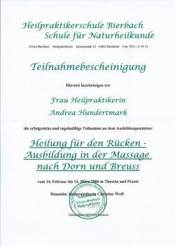 Dorn-Breuss-Bescheinigung